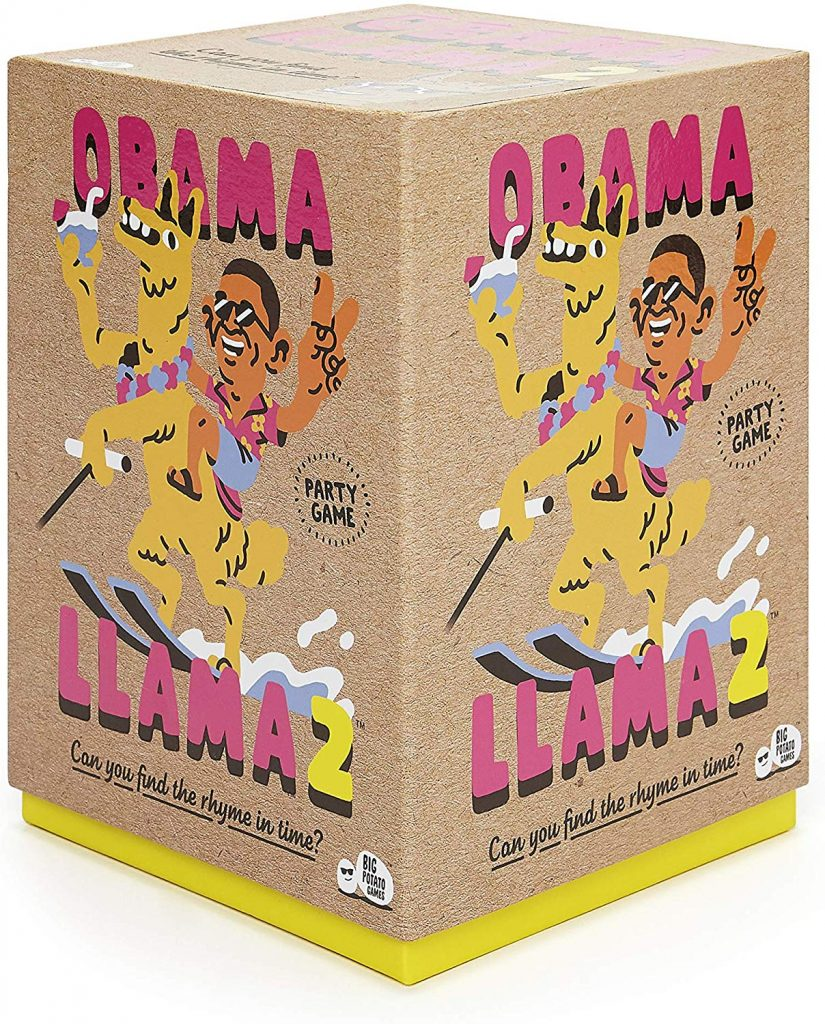 The box of Obama Llama 2, the board game
