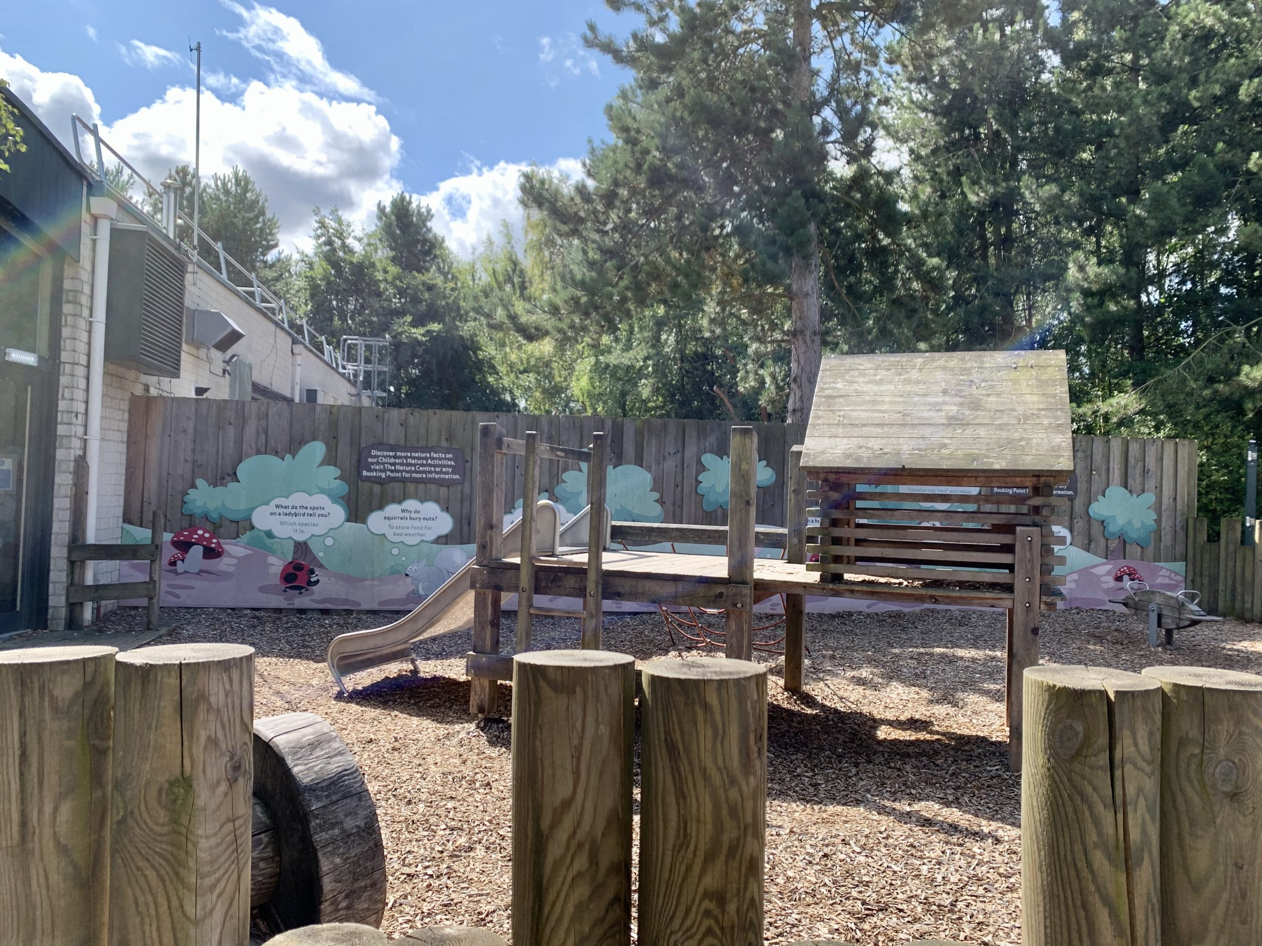 An empty playground at Center Parcs