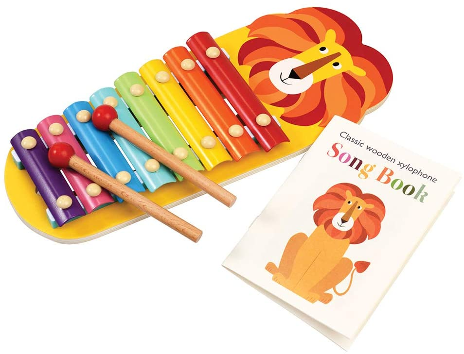 A xylophone with a lions head on it, one of the best gifts for a one-year-old